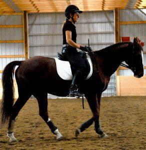 Birgit riding Sam
