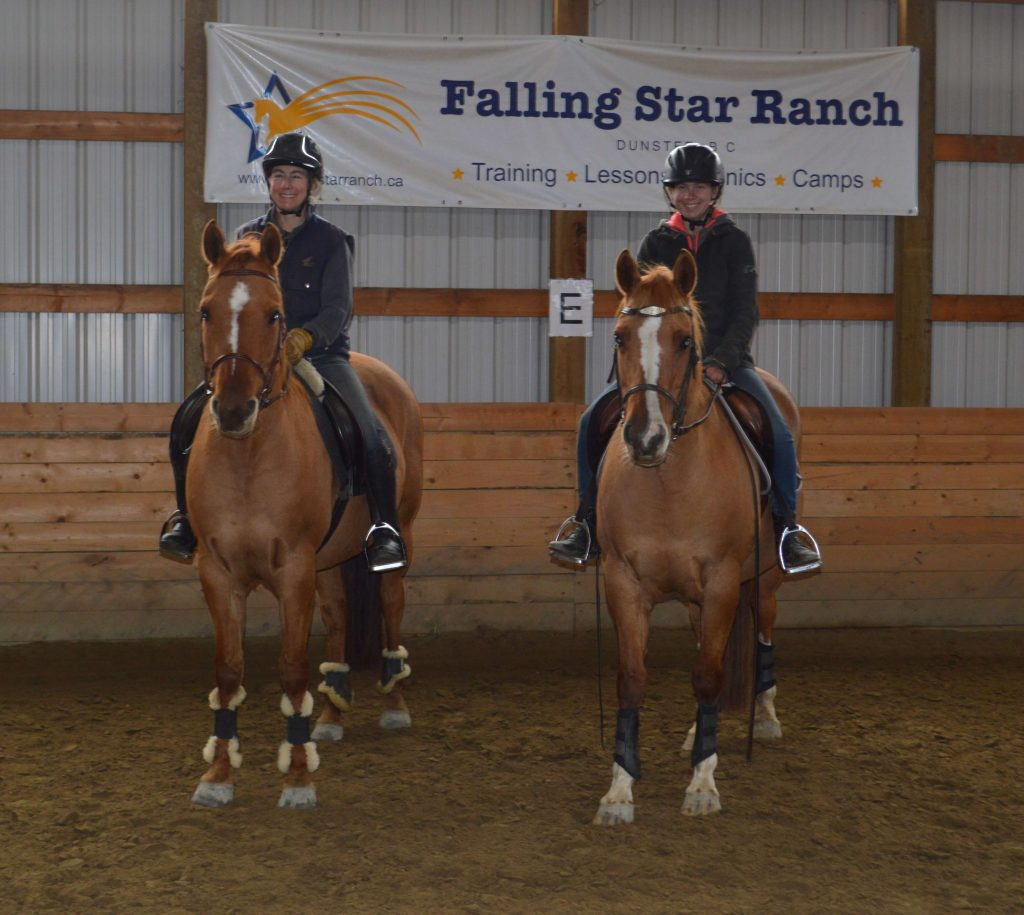 Our assistant trainer and coach Kyra Tyerman (right)